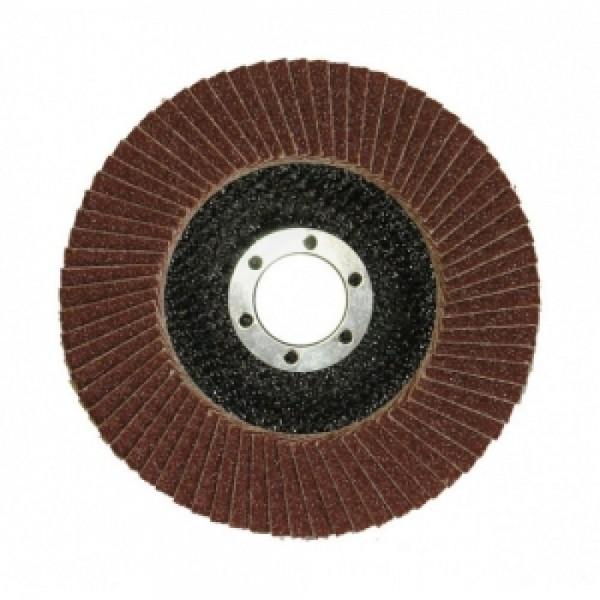 Круг лепестковый торцевой КЛТ 125*22  Р80 SPRUT-А