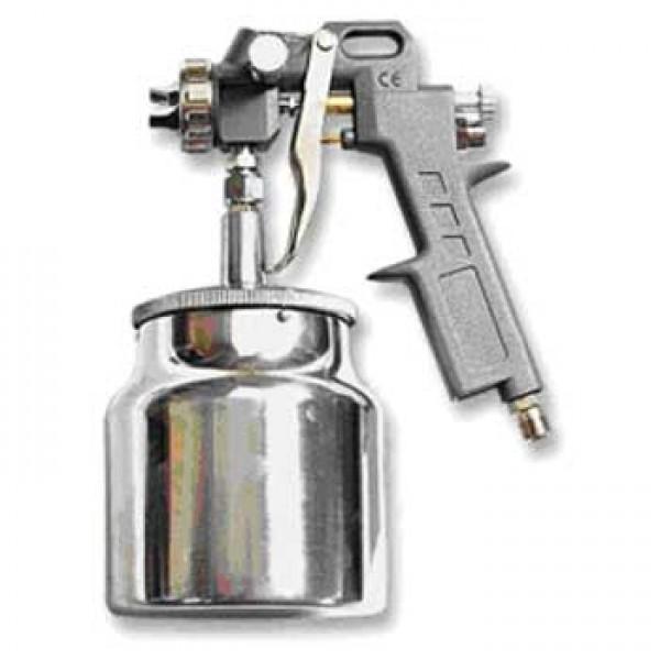 Краскопульт с нижним бачком 1,0 литр, сопла в наборе 1,2; 1,5; 1,8; Матрикс